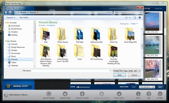 selecting photos windows app 2.1